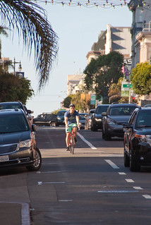 22577 Southbound Polk St. bike lane from Sutter back to Bush