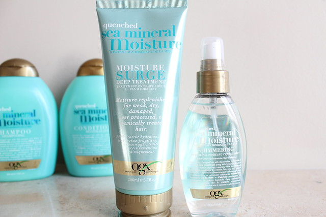 OGX Quenched Sea Mineral Moisture Surge Treatment and Healing Oil review
