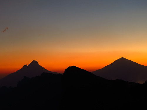 sunrise dawn congo karisimbi nyiragongo mikeno