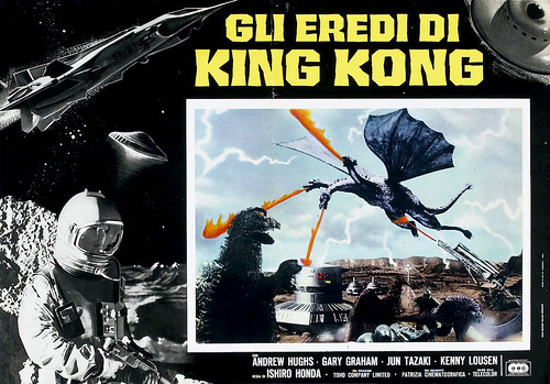 Italian lobby card for Destroy All Monsters (1968) 5