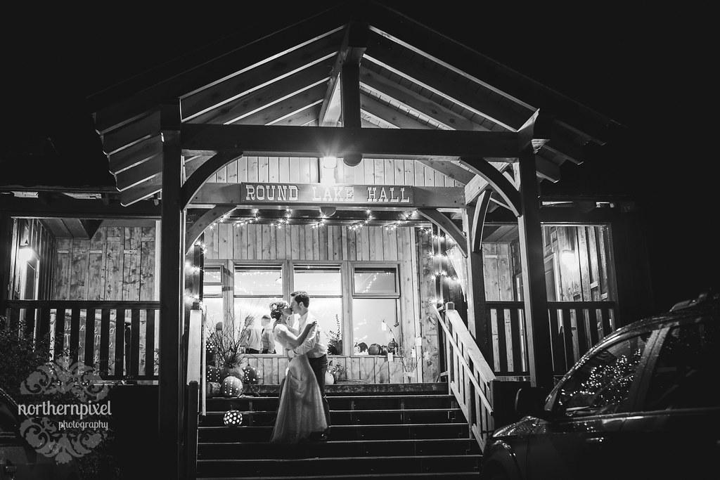 Night Wedding Venue Round Lake Hall British Columbia Wedding Photographer