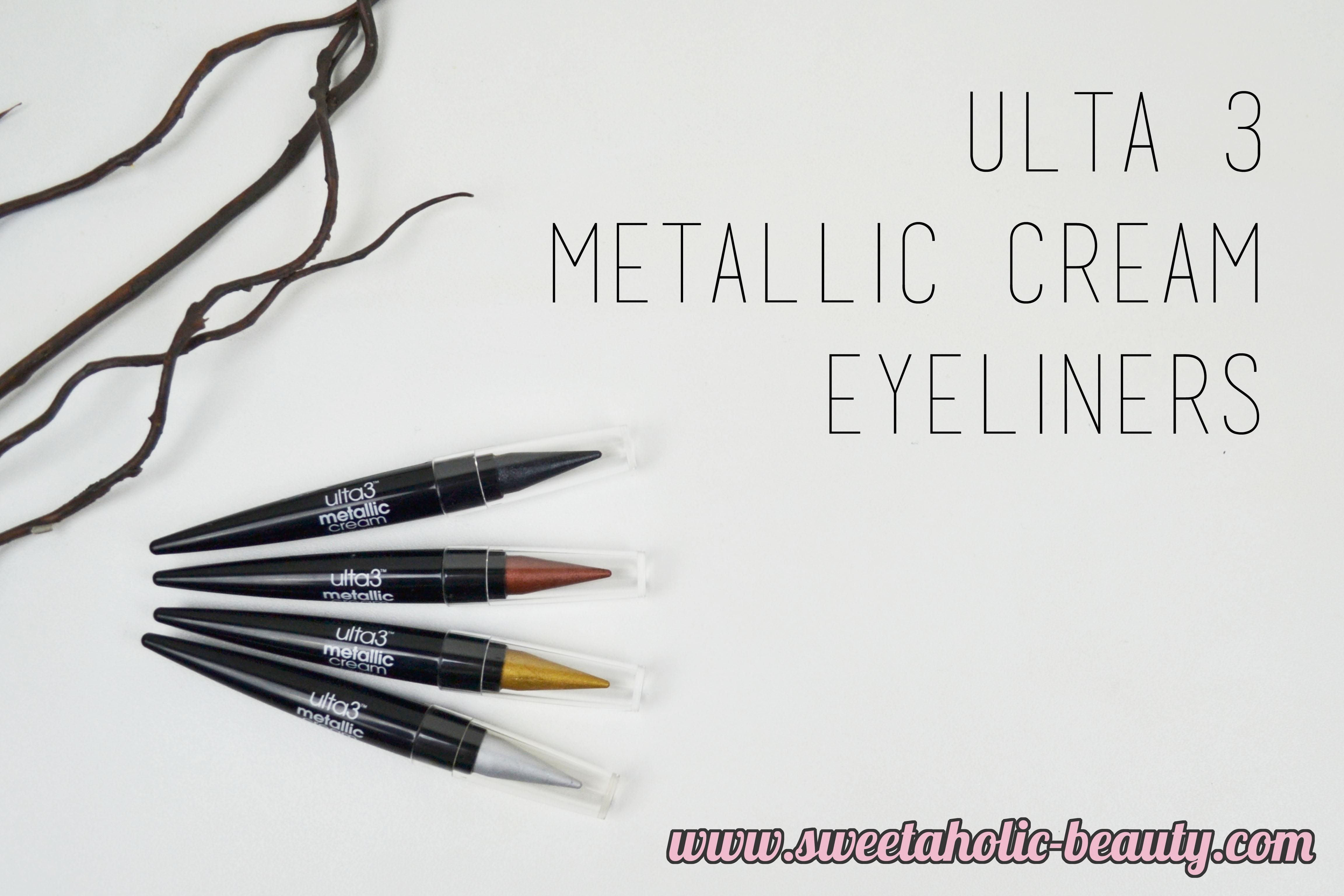 Ulta 3, Ulta 3 Metallic Cream Eyeliners, Australian, Bbloggers