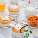 Rice pudding with sea buckthorn custard