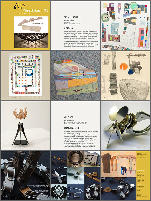 De bladzijden van het boekje bij de tentoonstelling