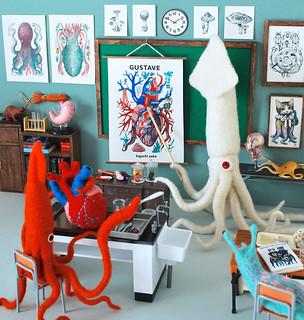 Collaboration Diorama Work with Yuko Higuchi's Drawings