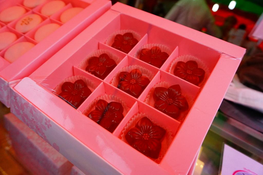 櫻花造型的櫻花巧克力