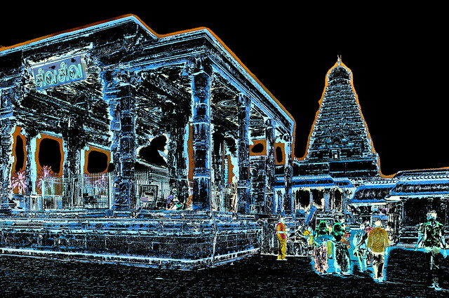 India - Tamil Nadu - Thanjavur - Brihadeshwara Temple - Nandi Shrine - 340b