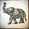 Strength, honor, stability, patience. #Zentangle helps me build all of these. #elephant #henna #art #arttherapy #drawing #blackandwhite #penandink #illustration #ink #creative #freehand #handdrawn #zenart #zenhenna #CZT18 #CZT #certifiedzentangleteacher #