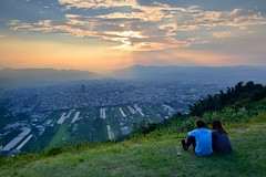 Enjoy sunset 埔里虎頭山
