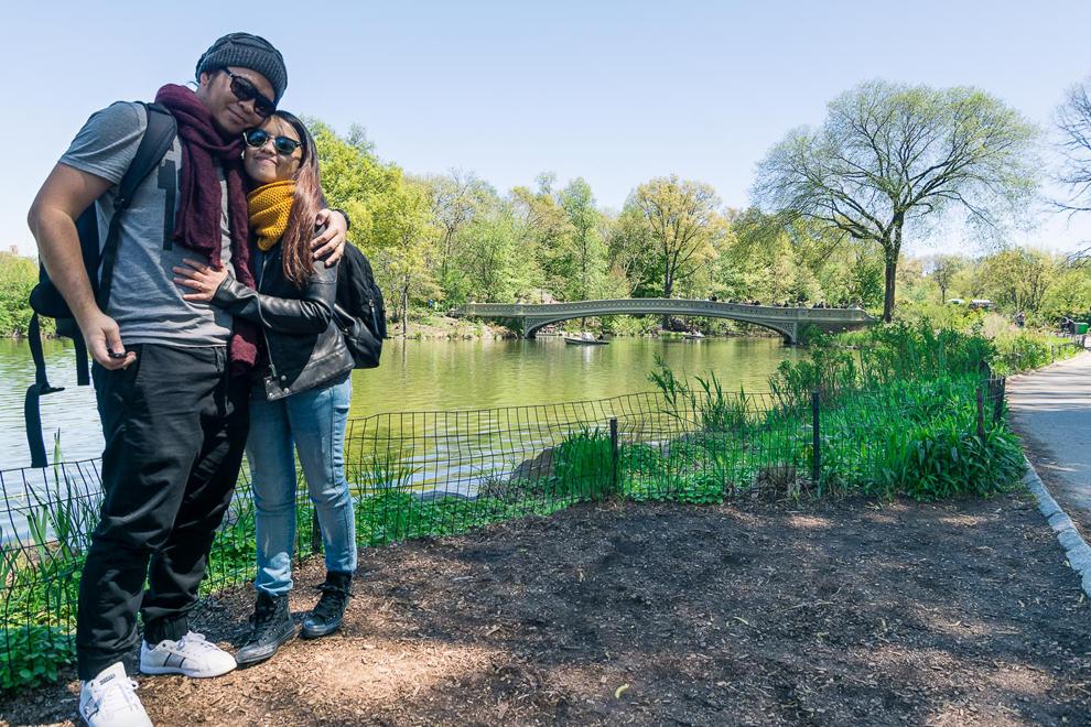 Couple in Bow Bridge