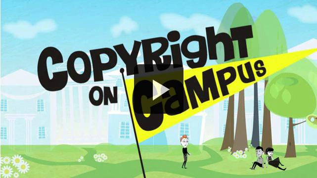 Copyright on campus video screenshot