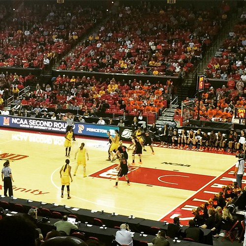 Last time at Comcast for the season to watch the Lady Terps take on Princeton. #goTerps