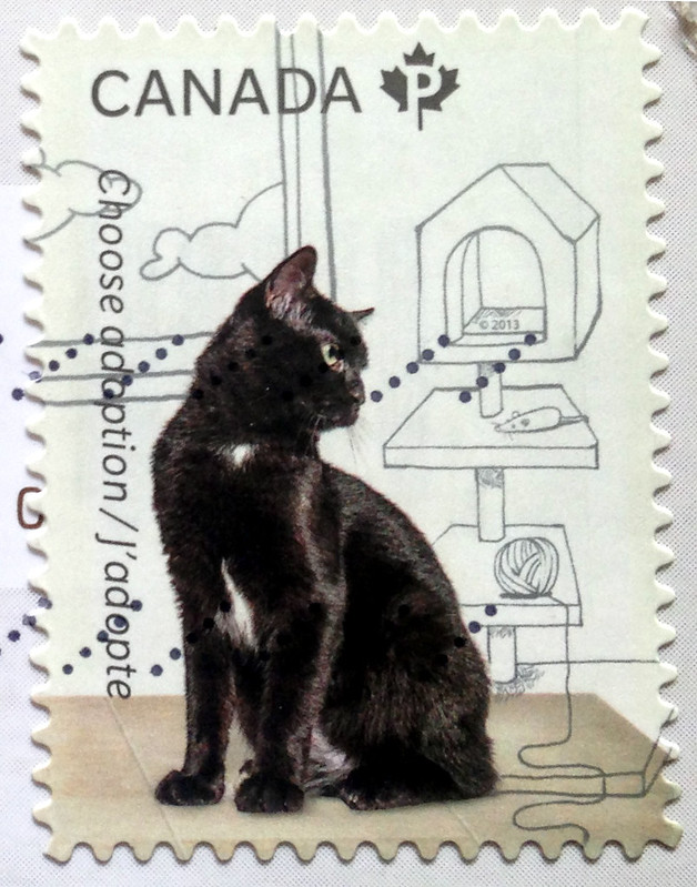 Canada Black Cat Stamp