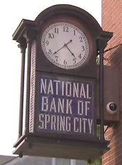 National Bank of Spring City clock