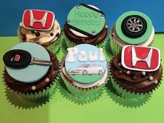 Honda Car Theme Cupcakes
