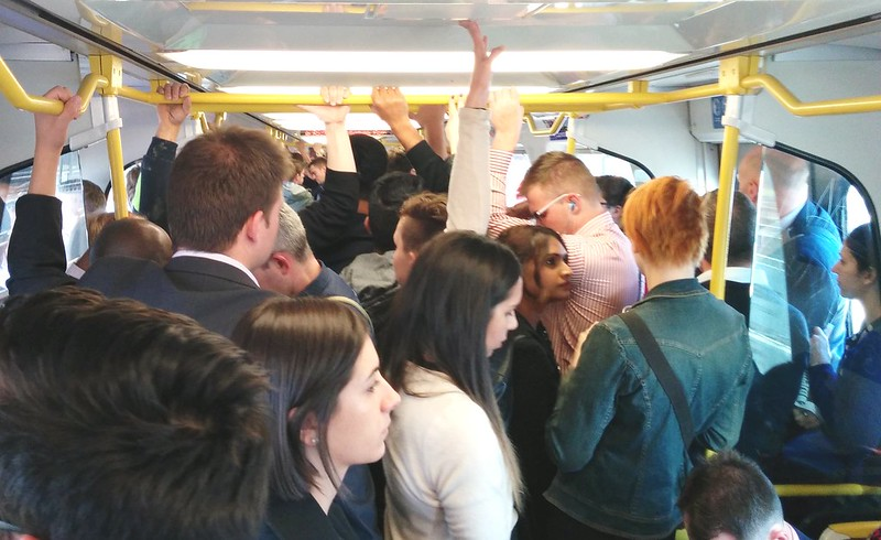 Crowded train home