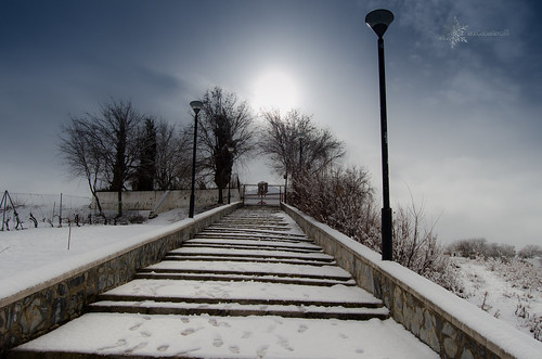 Ermita con nieve