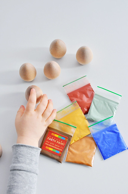 Wooden Eggs & Paint Packets
