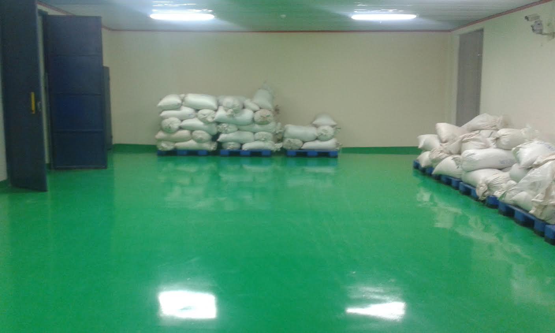 Nền nhà sơn epoxy sau khi sơn sàn