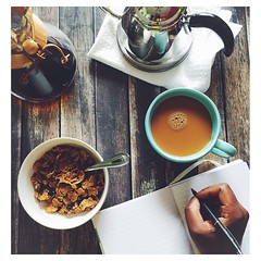 108|365: my Saturday morning: coffee, a little journaling , breakfast..... What does yours look like? #everydayeyecandy #saturdays #m4hp365