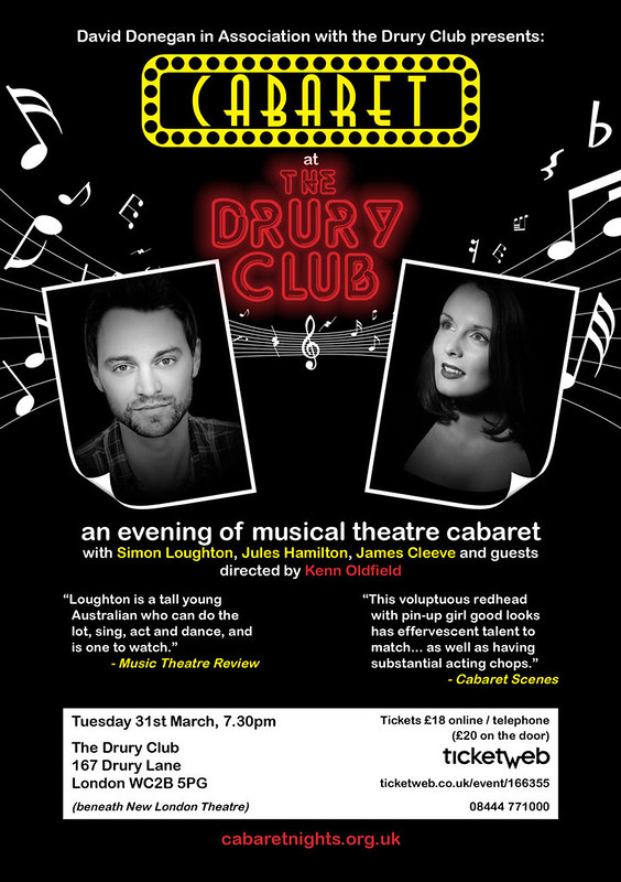 Cabaret at the Drury Club (flyer 2015)