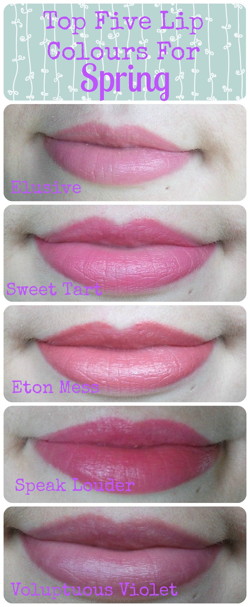 Top Five Lip Colours for Spring