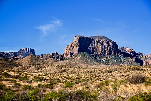 A Grand Vista of Casa Grande and Pulliam Bluff (Big Bend National Park)