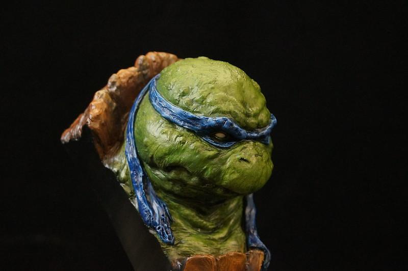 1/4 TMNT sculpté par Cyril Roquelaine 17107304617_35cbf1a40c_c