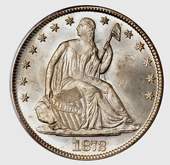 1872 Liberty Seated Half reverse