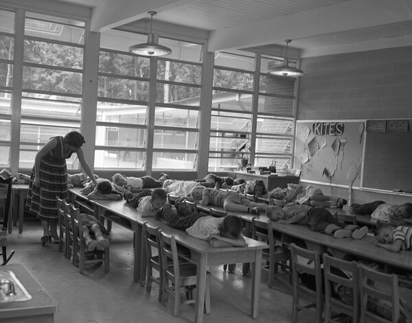 Elementary School class taking a nap in Tallahassee from Flickr via Wylio