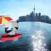 Origami Panda Fun on Toronto Waterworld Planet