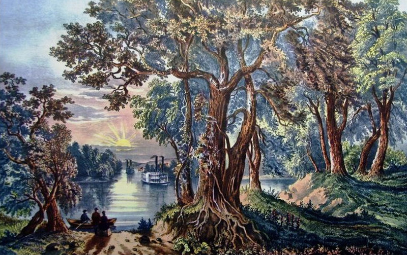 Western River Scenery, 1866