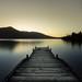 Enjoying the sunset ~ Lake near Hokitika New Zealand