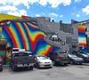 Felipe Pantone in Montreal #streetart #murals #mural #montreal #filipepantone #pantone @felipepantone #rainbow