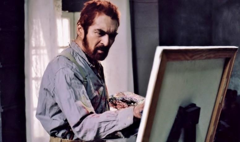 Alexander Barnett as Vincent van Gogh painting in the asylum The Eyes of Van Gogh