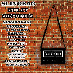 slingbag sablon hitam 18 sold out