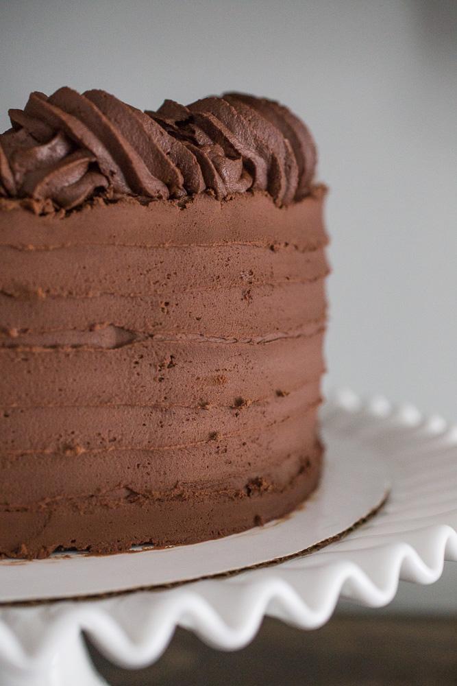 Dark Chocolate Ganache Cake - Smells Like Home