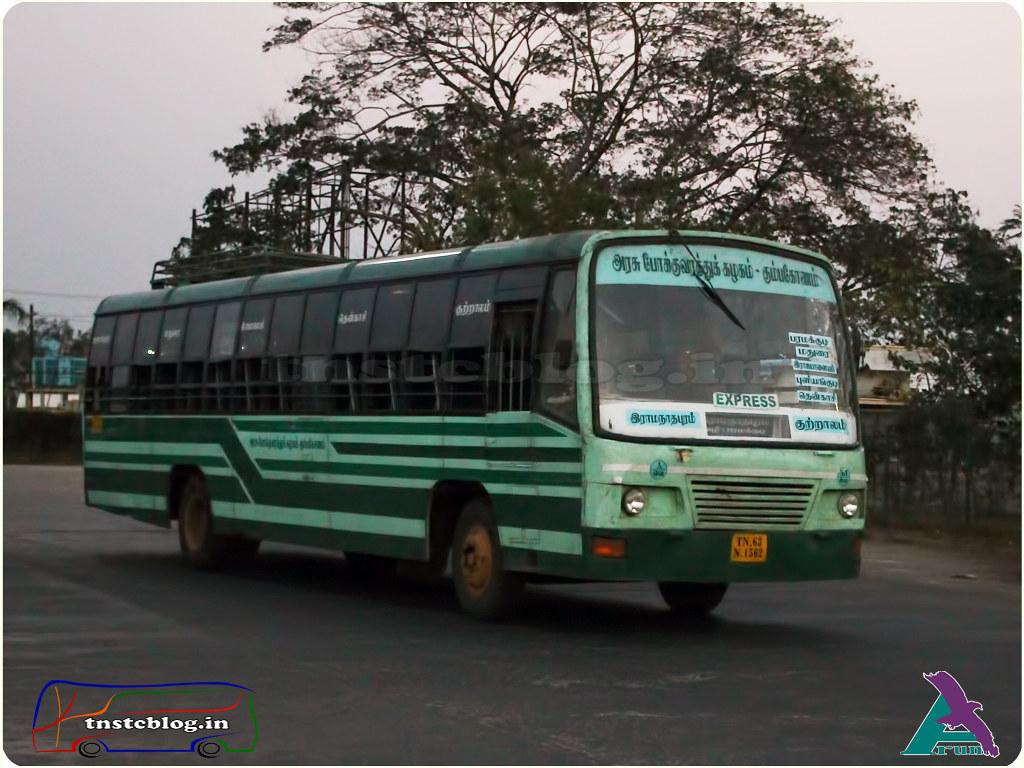 TN-63N-1562 of  Ramnad Depot Route Ramnathapuram - Courtallam via Paramakudi, Madurai, Rajapalayam, Puliyankudi, Tenkasi.