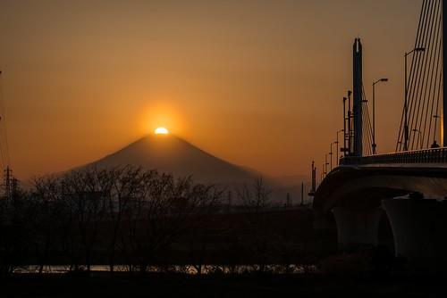 日本 fujisan 富士山 mtfuji 神奈川県 平塚 寒川 ダイヤモンド富士 高座郡