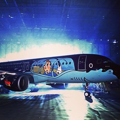 A Brussels Airlines aircraft in Tintin colours: #Aviation #Airline #Aircraft #Airbus #a320