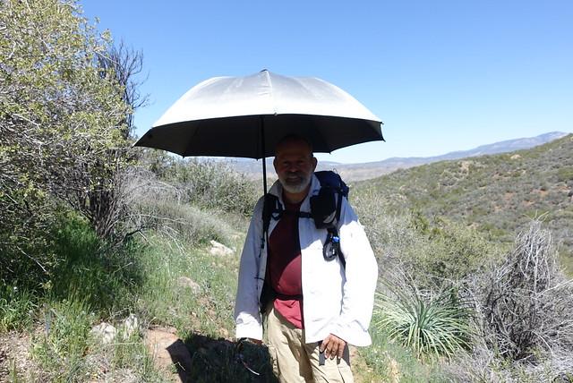 PCT Day 8.  Umbrella deployed