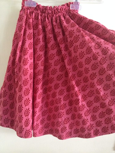 SEW - half circle skirt - pink handprint2