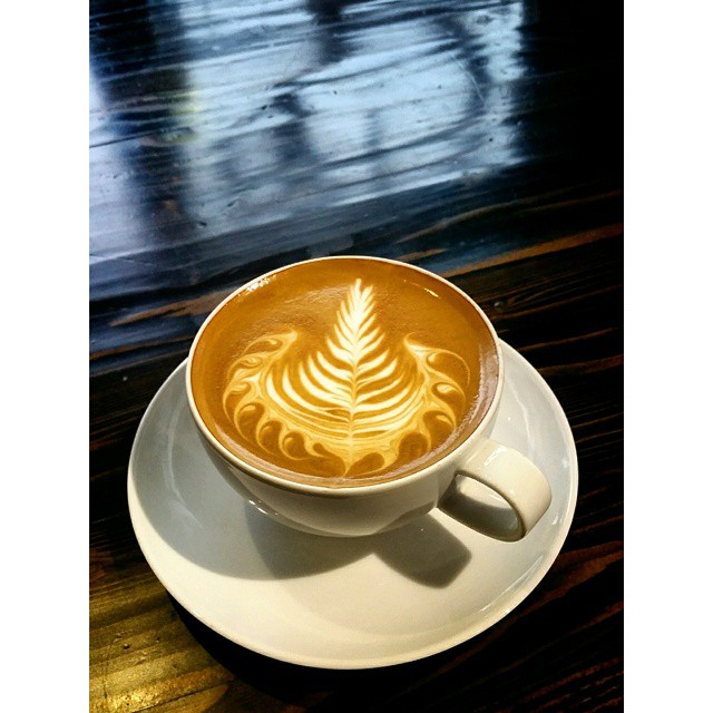 Come have a delicious latte made with Berry Berry, Quite Contrary espresso today! #espresso #latteart #caffedbolla #slc #coffee #roaster