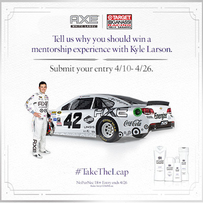 Win a Mentorship with Kyle Larson! TGT Axe Sweepstakes