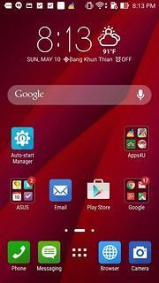 Home screen ของ ASUS Zenfone 2