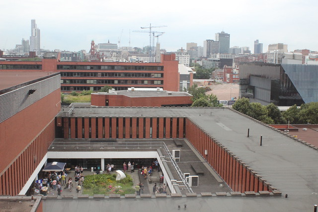 Looking North over the Kilburn Building, Manchester from the sixth floor of University Place