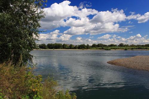 clouds river russia abakan khakassia