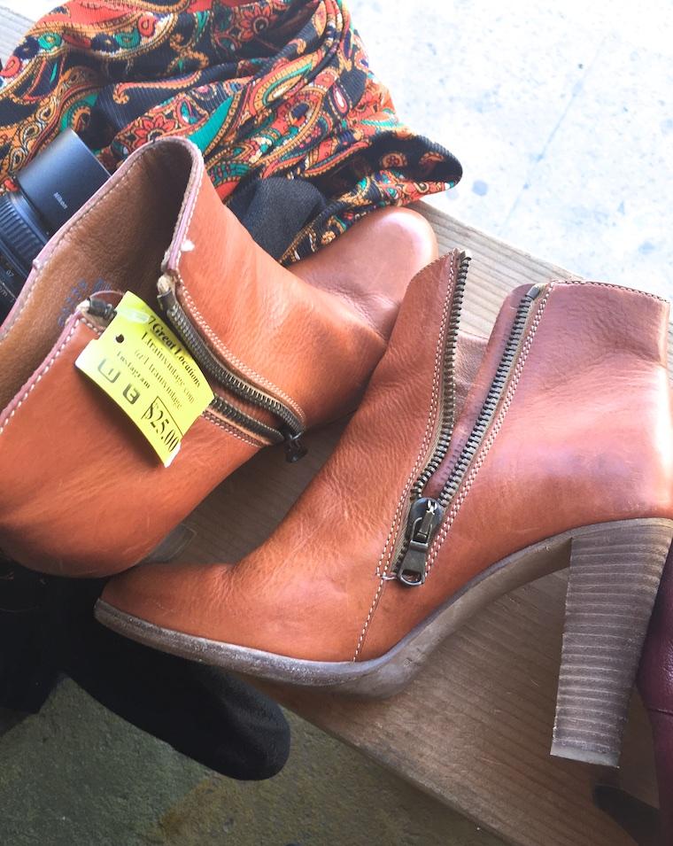 black vintage ankle boots