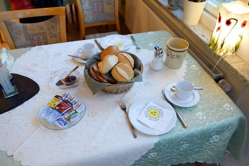 【早餐的麵包】跟奧地利不一樣,不是星形麵包