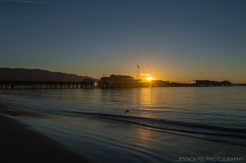 Santa Barbara California Sunrise over Stearns Wharf